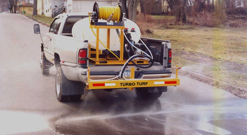 Turbo Turf 300 gallon brine sprayer with 3 lane boom