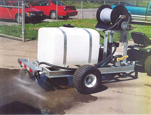 Gas Powered pull type brine sprayer