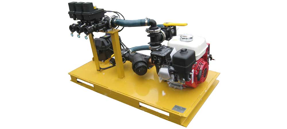 Turbo Turf 3 lane power pack converts your tank to a brine sprayer