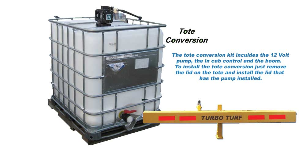 Turbo Turf's Tote Conversion allows you to convert a tote to an ice control sprayer
