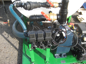 Hydro seeder conversion to an ice control sprayer