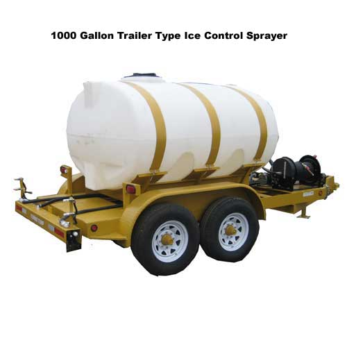 Turbo Turf 1000 Gallon Trailer type Ice Control Sprayer