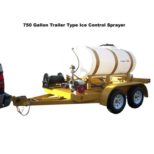 Turbo Turf 750 Gallon Trailer Type Brine Sprayer