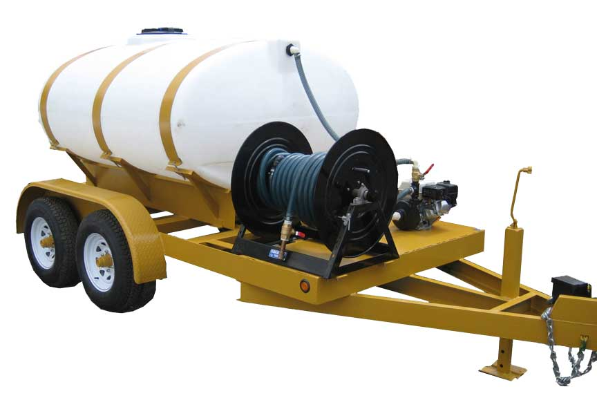 Turbo Turf 750 gallon trailer style brine sprayer